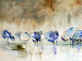 Pinturas figurativas y abstractas Pascale ledosseur