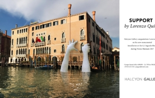 Venecia denuncia calentamiento global por lorenzo Quinn
