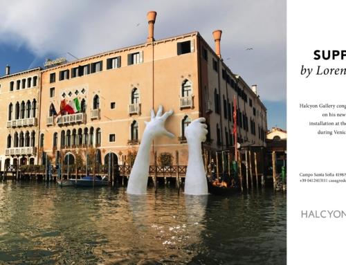 Auf der Biennale von Venedig, riesige Hände, um das Bewusstsein für den Klimawandel zu schärfen