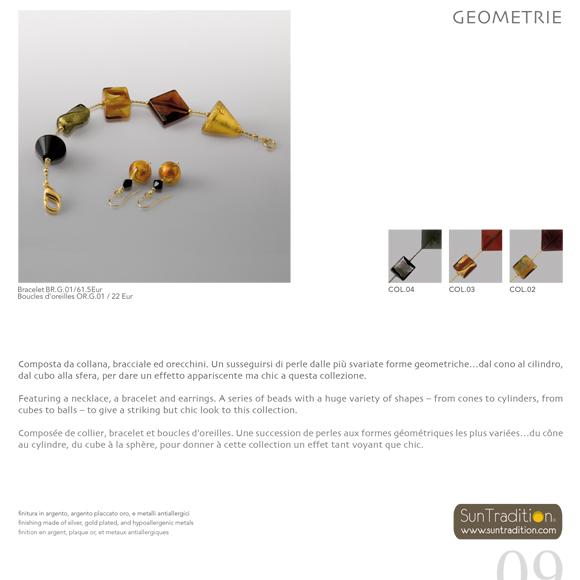 Luettelo Muranon lasista valmistetuista Suntradition-koruista